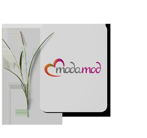 طراحی لوگوی فروشگاه اینترنتی زیبایی و سلامت مادامد