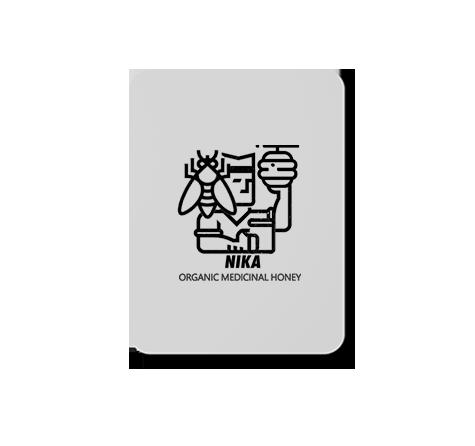 طراحی لوگوی عسل نیکا