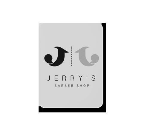jerry's barber shop logo design